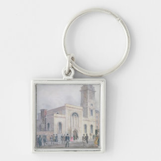 View of St. Bartholomew's Church Silver-Colored Square Keychain