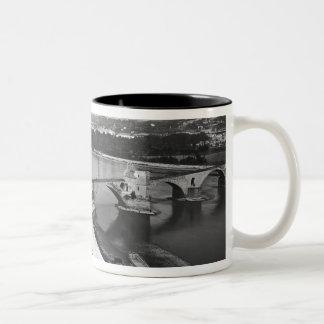 View of St. Benezet Bridge Two-Tone Coffee Mug