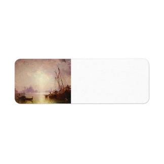 View of St George's, Venice by Franz Unterberger Return Address Labels