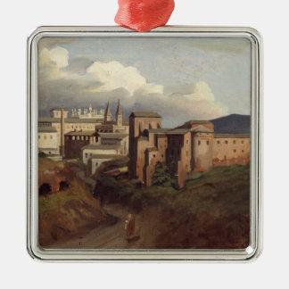 View of St. John Lateran, Rome, 1822 Metal Ornament