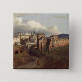 View of St. John Lateran, Rome, 1822 Pinback Button