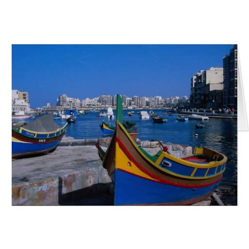 View of St. Julian, Malta Greeting Card