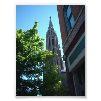 View of St Louis Church spire Buffalo NY Photo Print