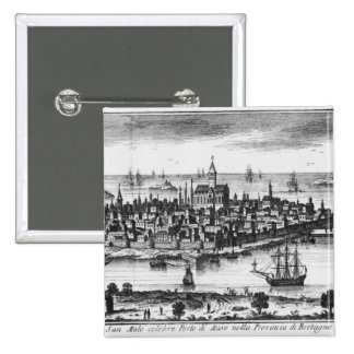 View of St. Malo Pinback Button