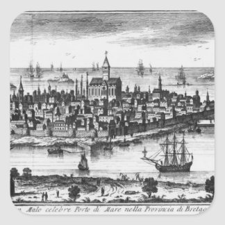 View of St. Malo Square Sticker