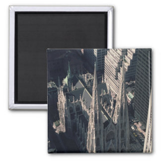 View of St. Patrick's Cathedral 2 Inch Square Magnet