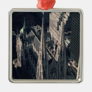 View of St. Patrick's Cathedral Metal Ornament