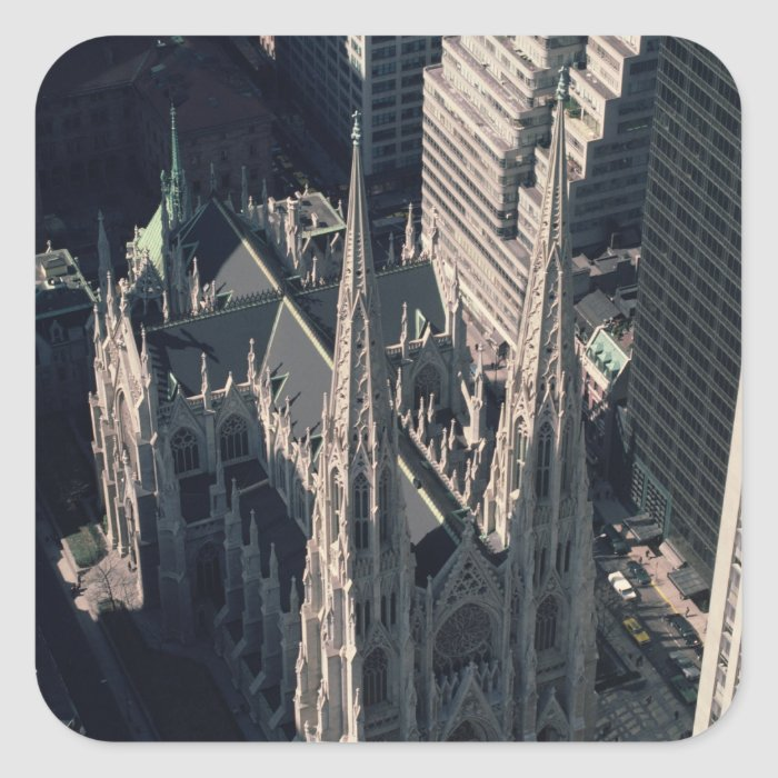 View of St. Patrick's Cathedral Square Sticker