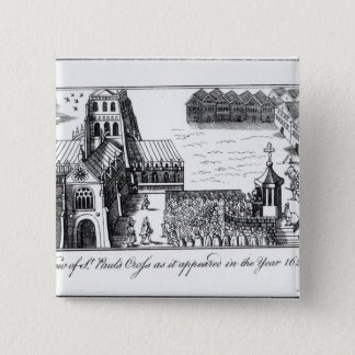 View of St. Paul's Cross Pinback Button
