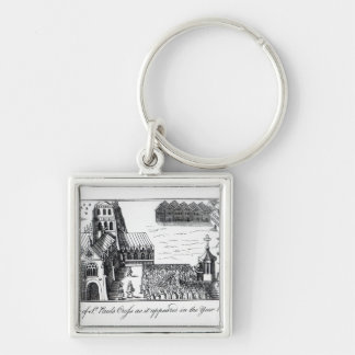 View of St. Paul's Cross Silver-Colored Square Keychain