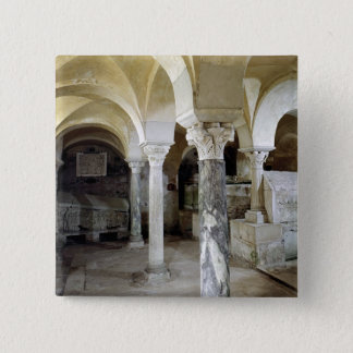 View of St. Paul's Crypt, c.634 AD Pinback Button