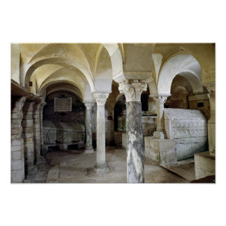 View of St. Paul's Crypt, c.634 AD Poster