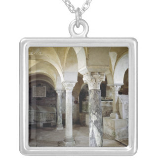View of St. Paul's Crypt, c.634 AD Silver Plated Necklace