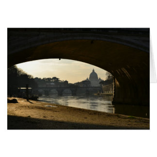 View of St. Peter's Basilica from under bridge Card