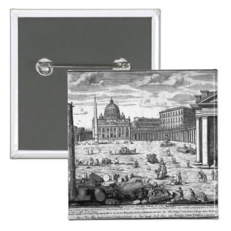 View of St. Peter's, Rome 2 Inch Square Button