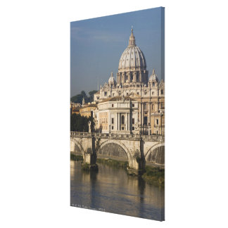 View of St Peter's with the Ponte sant' Angelo Canvas Print