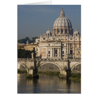 View of St Peter's with the Ponte sant' Angelo Card
