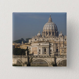 View of St Peter's with the Ponte sant' Angelo Pinback Button