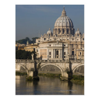 View of St Peter's with the Ponte sant' Angelo Postcard