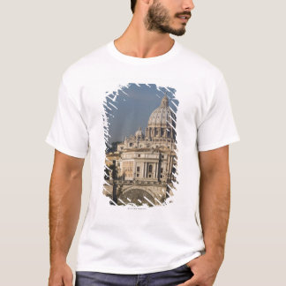 View of St Peter's with the Ponte sant' Angelo T-Shirt