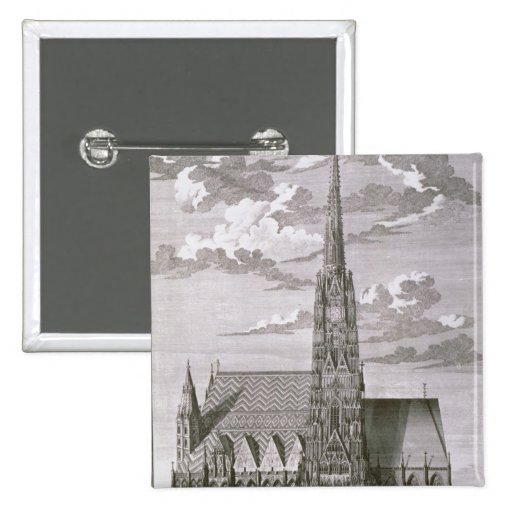 View of St. Stephan's Cathedral Pinback Button