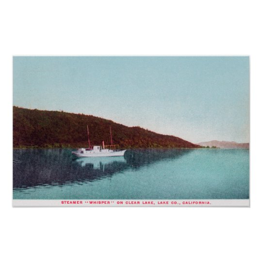 View of Steamer Whisper on the Lake Poster
