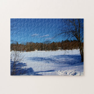 View Of Stillwater River From Stillwater Trail Jigsaw Puzzle