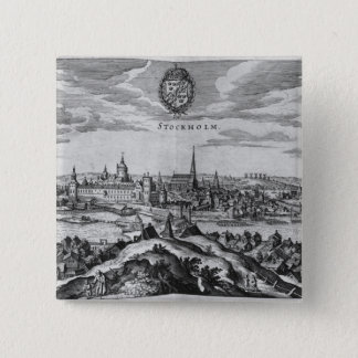 View of Stockholm Pinback Button
