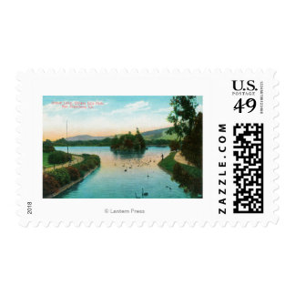 View of Stowe Lake at Golden Gate Park Postage Stamp