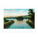 View of Stowe Lake at Golden Gate Park Postcard