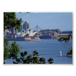 View of Sydney Harbour Posters