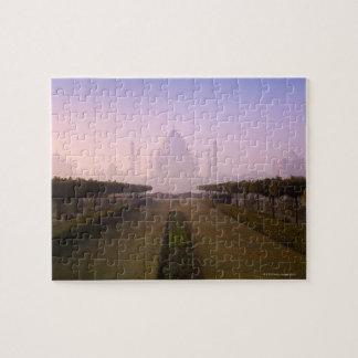 View of Taj Mahal at Sunrise Jigsaw Puzzles