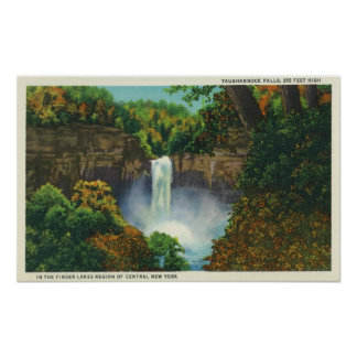View of Taughannock Falls, 215 Feet High Poster