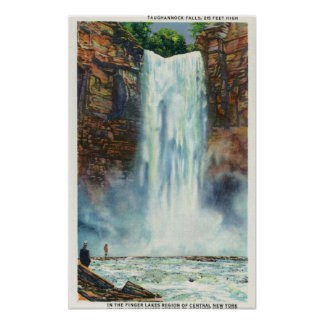 View of Taughannock Falls from the Bottom Poster