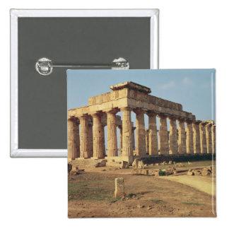 View of Temple E, c.490-480 BC Pinback Button