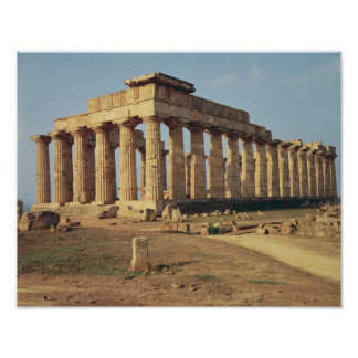 View of Temple E, c.490-480 BC Poster