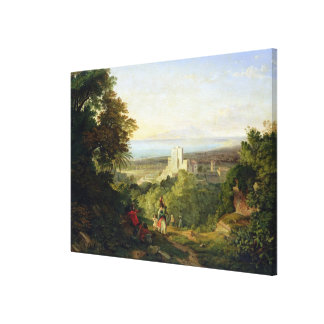 View of Terracina and Monte Circeo, 1833 Canvas Print