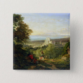 View of Terracina and Monte Circeo, 1833 Pinback Button