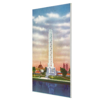 View of Texaco's Giant Thermometer Canvas Print
