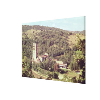 View of the Abbey and the church tower Canvas Print
