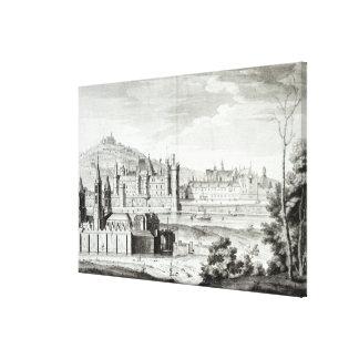 View of the Abbey of Saint-Germain-des-Pres Canvas Print