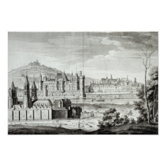 View of the Abbey of Saint-Germain-des-Pres Poster