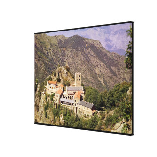 View of the Abbey of St. Martin du Canigou Canvas Print