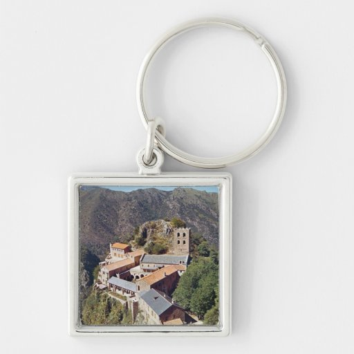 View of the Abbey of St. Martin du Canigou Keychains