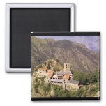 View of the Abbey of St. Martin du Canigou Magnets