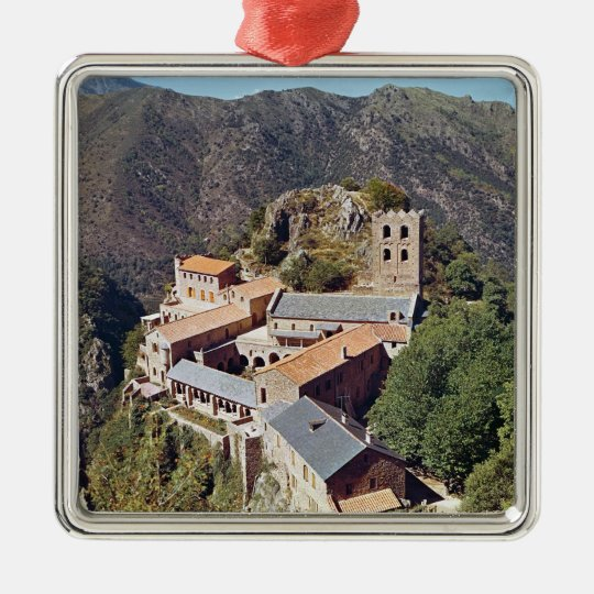 View of the Abbey of St. Martin du Canigou Metal Ornament