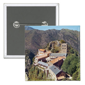 View of the Abbey of St. Martin du Canigou Pinback Button