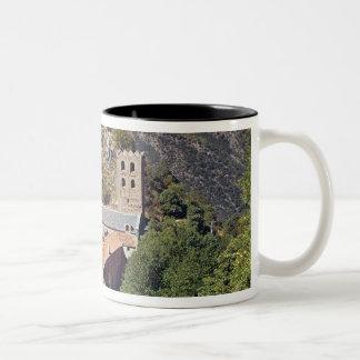 View of the Abbey of St. Martin du Canigou Two-Tone Coffee Mug