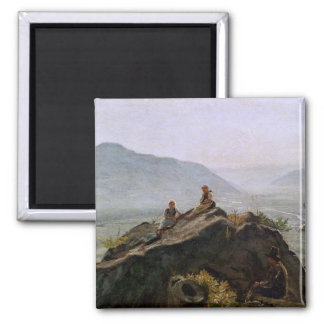 View of the Adige Valley, 1831 2 Inch Square Magnet