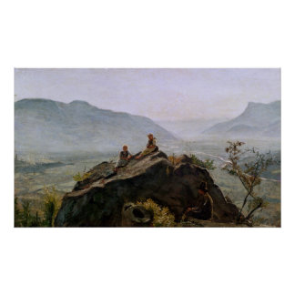 View of the Adige Valley, 1831 Poster